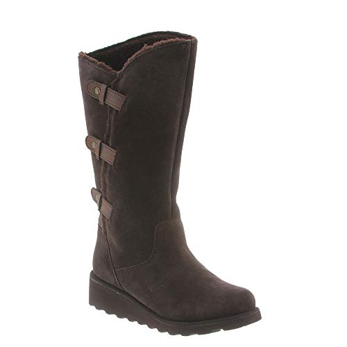 (BEARPAW Womens Rubber Closed Toe Knee High Fashion Boots, Chocolate, Size 9.0)