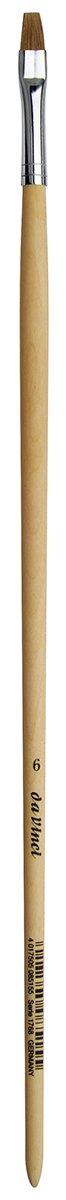 Size 24 da Vinci Graphic Design Series 1287 Lettering Rigger Brush Long Length Needle Point Light Brown Ox Hair with Red Lacquer Handle