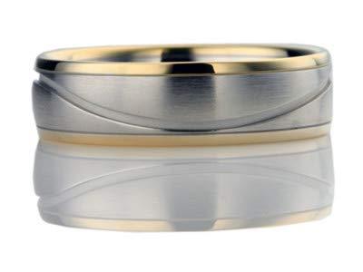 Addamas 950 - Anillo de Gold Gelb de 18 quilates para hombre, platino macizo