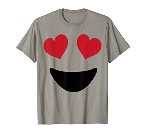 Emoji Shirt With Heart Eyes and A Big Smile T-Shirt Tee -