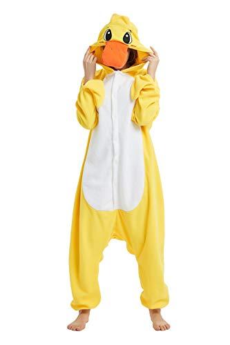 NINI.LADY Unisex Sleepsuit Pajamas Cosplay Costume Adult Sleepwear… (Small, Yellow Duck) -