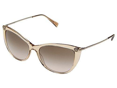 Versace Women's VE4345B Transparent Light Brown/Brown Gradient One - Sunglasses Clear Versace