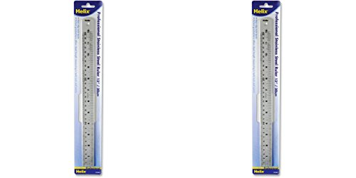 UPC 635909141617, Helix Professional Stainless Steel Ruler, 12-Inch (13212), 2 Packs
