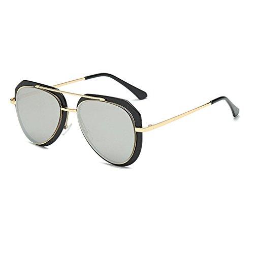 Aoligei Mode lunettes de soleil rétro élégant grosse boîte couleur film couleur lumineuse réfléchissant lunette de soleil 5tc1Kw