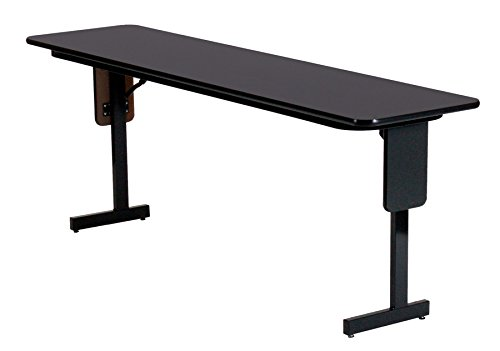 Leg Seminar Table - Correll SPA1872PX-07 Adjustable Height Folding Seminar Table with Panel Leg, Rectangular Top, 18