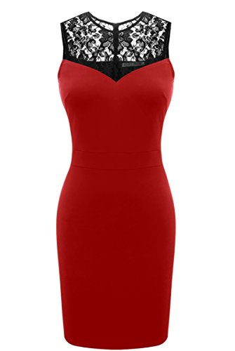 Heloise Sleeveless Bodycon Cocktail Through product image