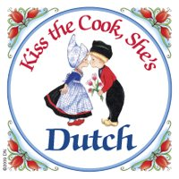 (Dutch Souvenirs Magnet Tile (Kiss Dutch Cook) )