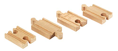 (BRIO World - 33333 Mini-Straight Tracks | 4 Piece Wooden Train Tracks for Kids Ages 3 and Up)
