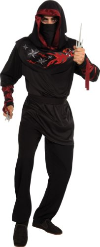 Rubie's Costume Heroes and Hombres Dragon Flame Hooded Ninja Shirt and Mask