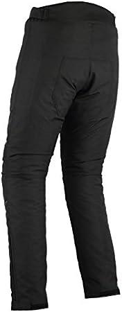 Noir uni W36 L30 Pantalon de Moto Renforts CE//imperm/éable