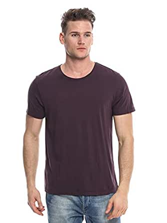 Organic Cotton No Nasties Purple Cotton Round Neck T-Shirt For Men