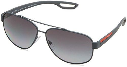 Prada Sport PS58QS TFZ5W1 Grey Lj Silver Aviator Sunglasses Polarised Lens - Sunglasses Polarised Brands
