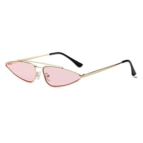 Ojo Escoger Pequeña Estilo Pink Retro súper Color C3 de Moda de Gafas Xinvision Metal para Gold agua Gafas Mujer UV 6 Marco Anti de Gota gato Lente sol Sw5xRzq