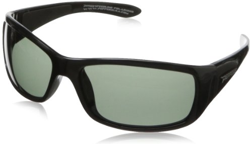Pepper's Cutthroat FL7344-1 Polarized Sport Sunglasses,Shiny Black,One size by Peppers