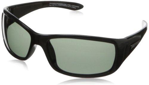 Pepper's Cutthroat FL7344-1 Polarized Sport Sunglasses,Shiny Black,One size (Sunglass Shop-com)