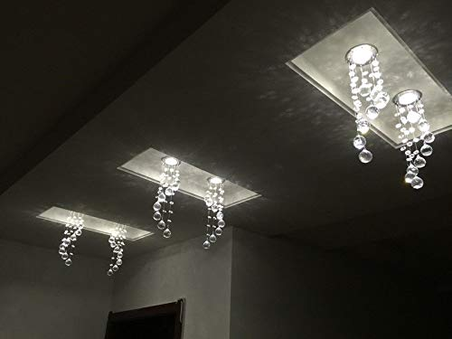 FidgetKute 3W LED Crystal Ceiling Light Small Chandelier Lamp Pendant Fixture Hallway Decor Warm White Surface Mount by FidgetKute (Image #8)