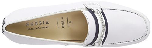 Hassia Petra, Weite G, Women's Loafers White (0230 Weiß/Ocean)