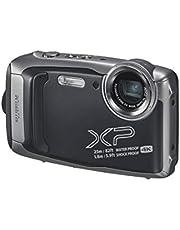 Fujifilm XP140 FinePix Waterproof Digital Camera, Dark Silver (74365)