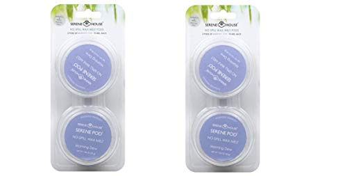 - 2 Pack Serene Pod No Spill Morning Dew Wax Warmer Refill Cups, 35g, Pack of 2 (Total 4)