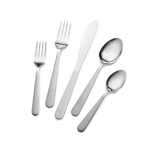 Rogers Brothers Calla 20-Piece Stainless Steel Flatware Set, Service for 4