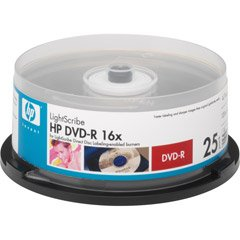 HP DVD-R Recordable DVD Pack with Lightscribe 66000084427 by HP
