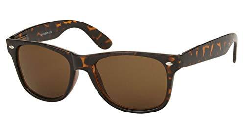 MLC Eyewear Vintage 80's Retro Classic Horn Rimmed Polarized Unisex Sunglasses - Tortoise Frame (Original Wayfarer Brillen)