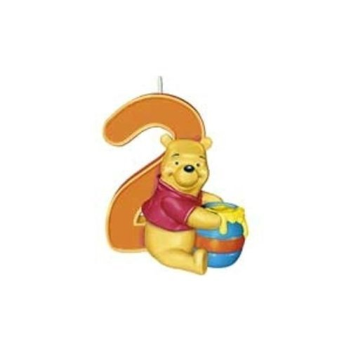 Winnie the Pooh Age 2 Birthday Candle