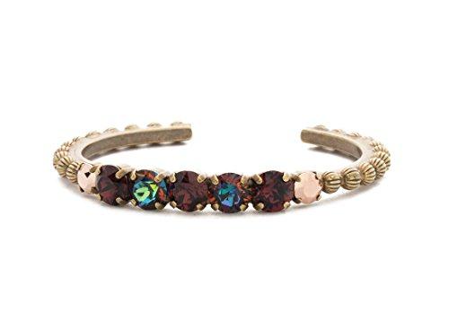 Sorrelli Mimosa Mahogany Swarovski Crystal Antique Goldtone Cuff Bracelet ()