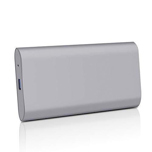 2TB External Hard Drive Ultra Slim Portable HDD, Portable Hard Drive USB 3.1/Type-C for PC, Mac, Xbox, Laptop (2TB, Grey)