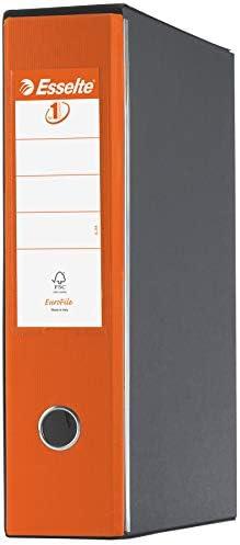 Cartone rivestito in plastica Esselte 390755800 Dorso 8 cm Raccoglitore Eurofile con meccanismo a leva e con custodia Turchese Formato Protocollo