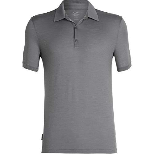 Icebreaker Tech Lite Polo Shirt - Men's Timberwolf, M (Icebreaker Wool Shirt)