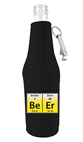 (Coolie Junction Beer Elements Funny Beer Bottle Coolie w/Opener)