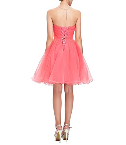 Kleid Tüll Korsett Cocktail Rosa für Kurzes Abendkleid Brautjungfer CoutureBridal® pFtBWqF