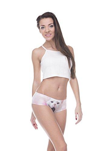 Fringoo - Culottes - para mujer Screaming White Cat