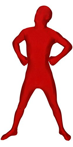 Full Body Spandex Body Suit Costume (Child, Red)