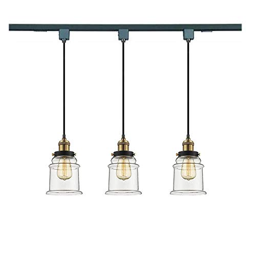 Clear Glass Pendant Track Lighting in US - 1