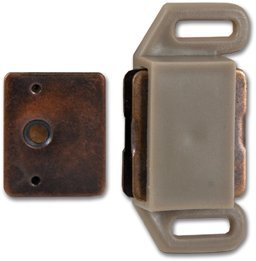 Magnetic Cabinet Catch Tan- 5 Pk