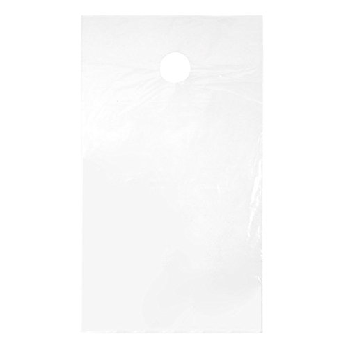 ClearBags 9 x 15 Door Hanger Bags for Door Knob Flyers Promotions Coupons | Clear Plastic Poly Hanging Bags for Mail | Newspaper Bags with Hangers Protect Against Rain, Dirt, & Bugs | DK2A Pack of 100