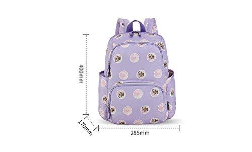 Bolsos de mamá de hombro Multi-función de gran capacidad de bebé de la madre-bebé bebé fuera de la bolsa de hombro ( Color : Verde ) Purple