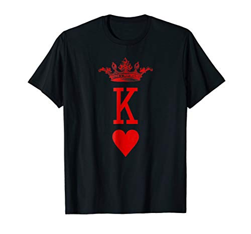 King of Hearts Vintage Crown Engraving Card - King Hearts T-shirt