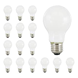 SYLVANIA LED A19 Natural Light Series, 60W Equivalent, Efficient 8W, Dimmable, Frosted Finish, Soft White 2700K Color Temperature, 16 Pack