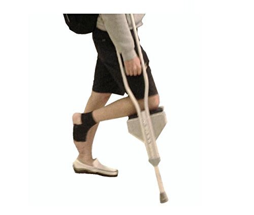 Mobility Crutch (Freedom Crutch - Padded Knee Rest, Attaches to Standard Crutches for Hands Free Mobility. Relieves Underarm Discomfort.)