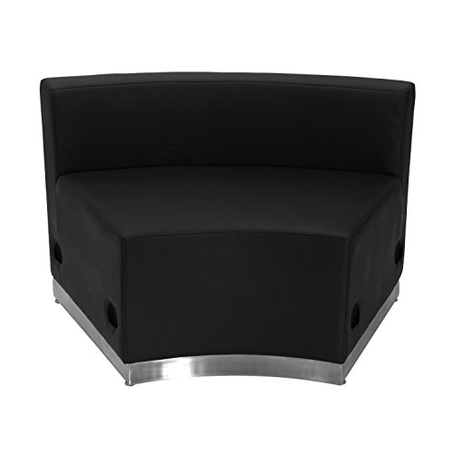 Modular Black Base (Flash Furniture HERCULES Alon Series Black Leather Concave Chair with Brushed Stainless Steel Base)