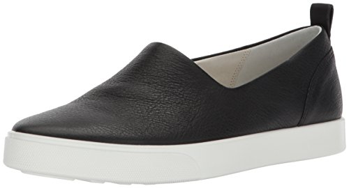 ECCO Women's Gillian Slip on Fashion Sneaker, Black, 39 EU/8-8.5 M US