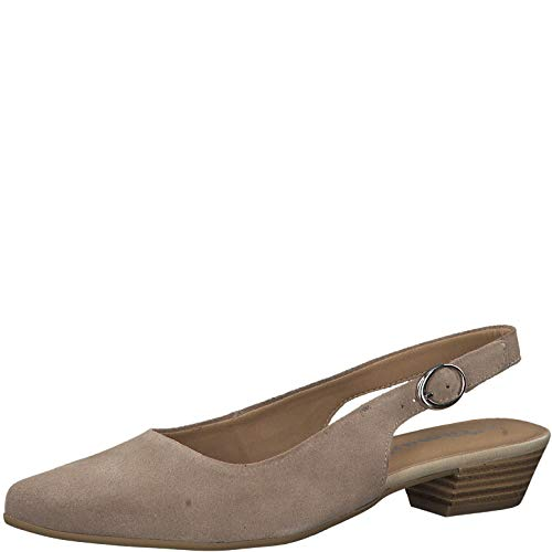 De Tacón 1 zapatos 1 slingback Zapatos 22 Tamaris Mujer Taupe 29400 Tacon xRYqTZwf