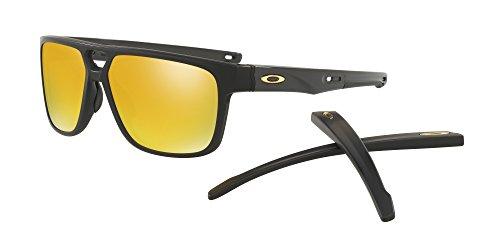 Oakley Crossrange Patch Sunglasses Matte Black with 24K Gold Iridium Lens + - Fishing Sunglasses Oakley