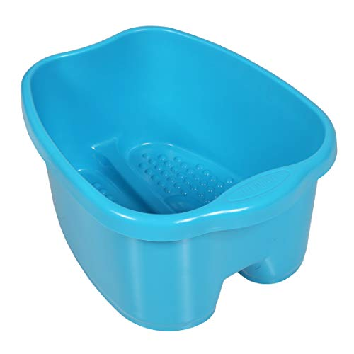 Milliard Extra Large Foot Soak Bath Tub - Massaging Pedicure Spa Basin for Soaking Your Tired & Sore Feet - Big Footbath Bucket & Soaker Bowl - Great for Toe Nail Fungus (FITS UP TO A MEN'S SIZE 12)