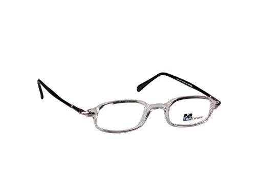 Crystal Frames Eyeglass - EyeGlasses Full Rectangular Oval Plastic Frame Clear Lens Kids Eyewear ES1117, Color: Crystal, Size 41