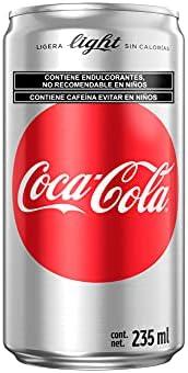 Coca-Cola Light Refresco Coca-Cola Light, 12 latas de 235 ml cada una. 12 pack