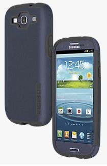 Incipio Samsung Galaxy S3 Double Cover Hard Shell Case with Silicone Core, Navy / Gray - Comes with Viewing Stand (Fits T-Mobile / Verizon / AT&T Galaxy S3) (Samsung Galaxy S3 Incipio Case compare prices)